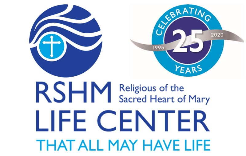 RSHM LIFE Center logo with a Celebrating 25 years banner